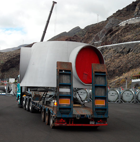 Sondertransporte Windkraftanlagen - Transportes Sánchez