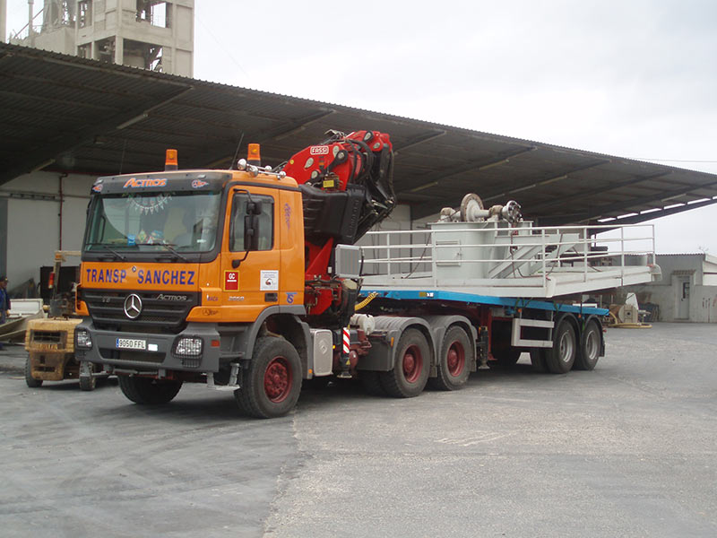 Transporte Especial Estructuras - Transportes Sánchez