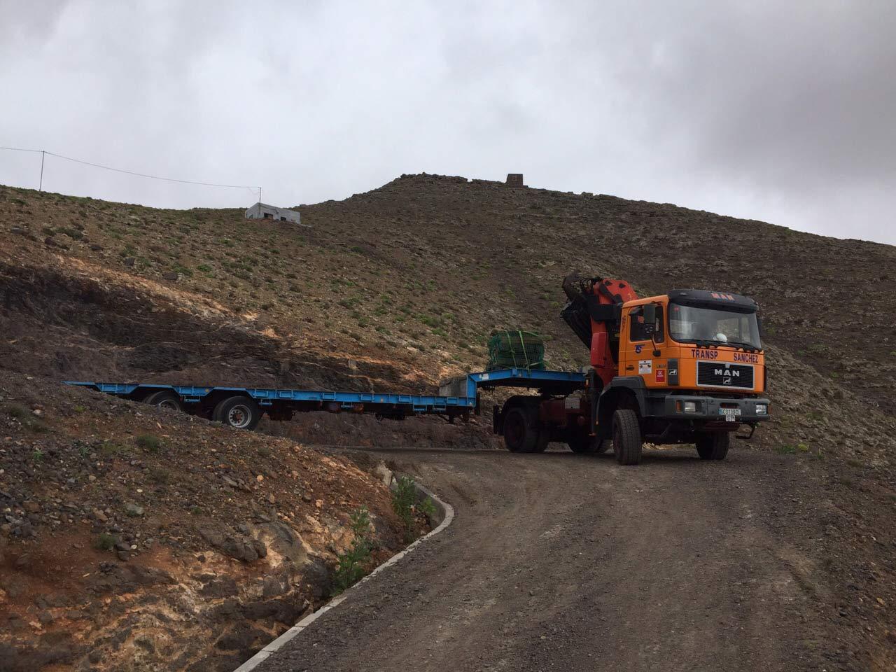 Sondertransporte mit Allradantrieb  - Transportes Sánchez