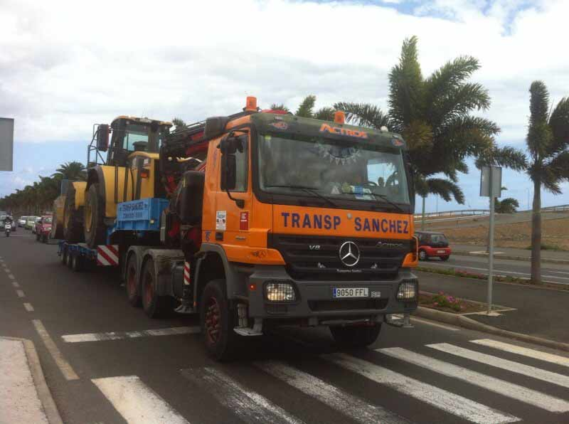 Special machine transport - Transportes Sánchez